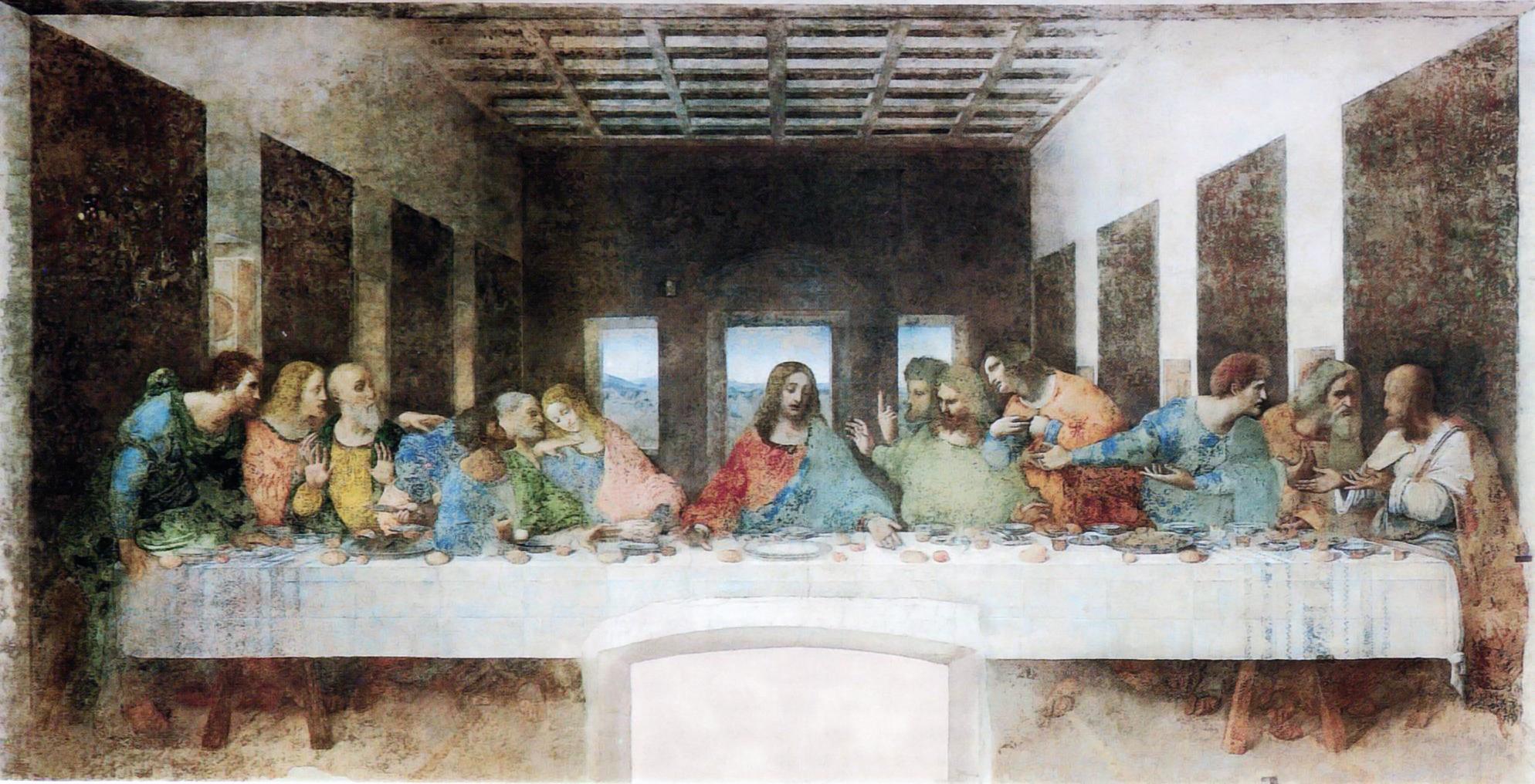 Leonardo da vinci , the last supper , 1495