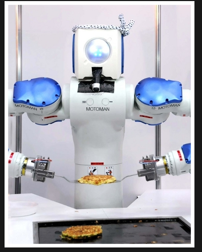 Okonomiyaki master chef motoman sda10 neoshinka for Robot cuisine chef